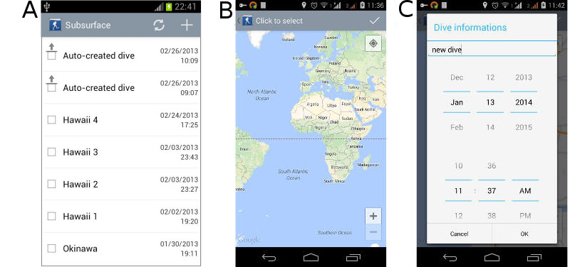 FIGURE: Companion App, add location using map