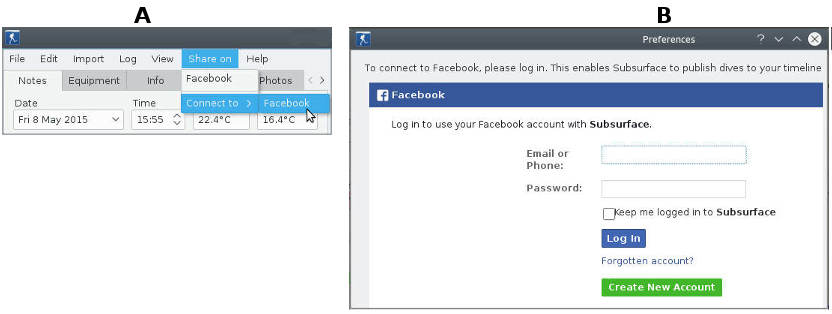 Figure: Facebook login